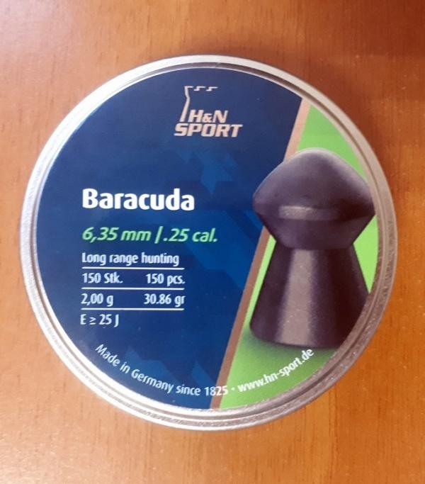 Пули BARACUDA калибр 6,35мм dtc 2.0 гр.